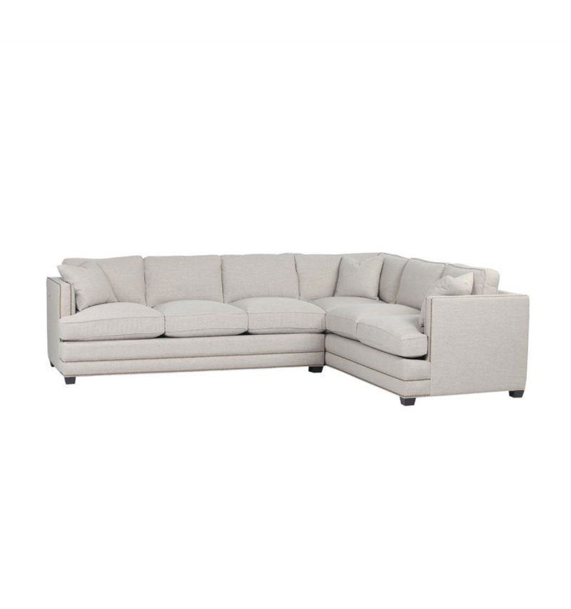 Picture of Markham Sectional in Milford-Wheat fabric