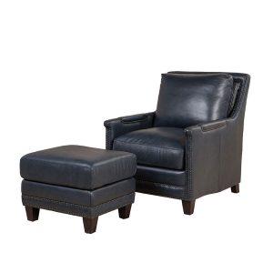 Picture of Prescott-Chair---Prescott-Ottoman---Cavalier-Navy