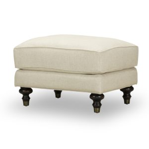 Picture of Sloane-Ottoman in white fabric
