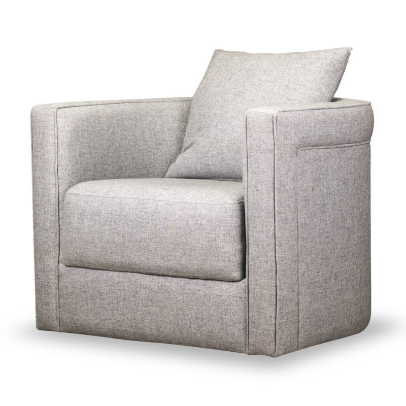 classic barrel back swivel chair