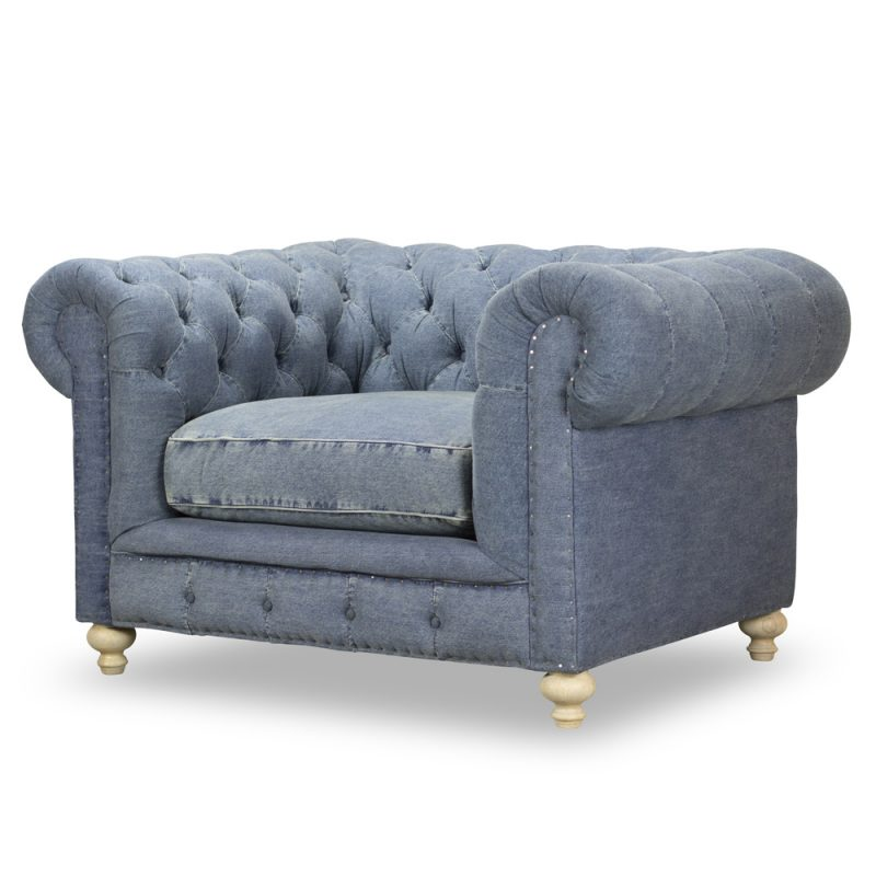 Greenwich Chair - Desi Blue Denim