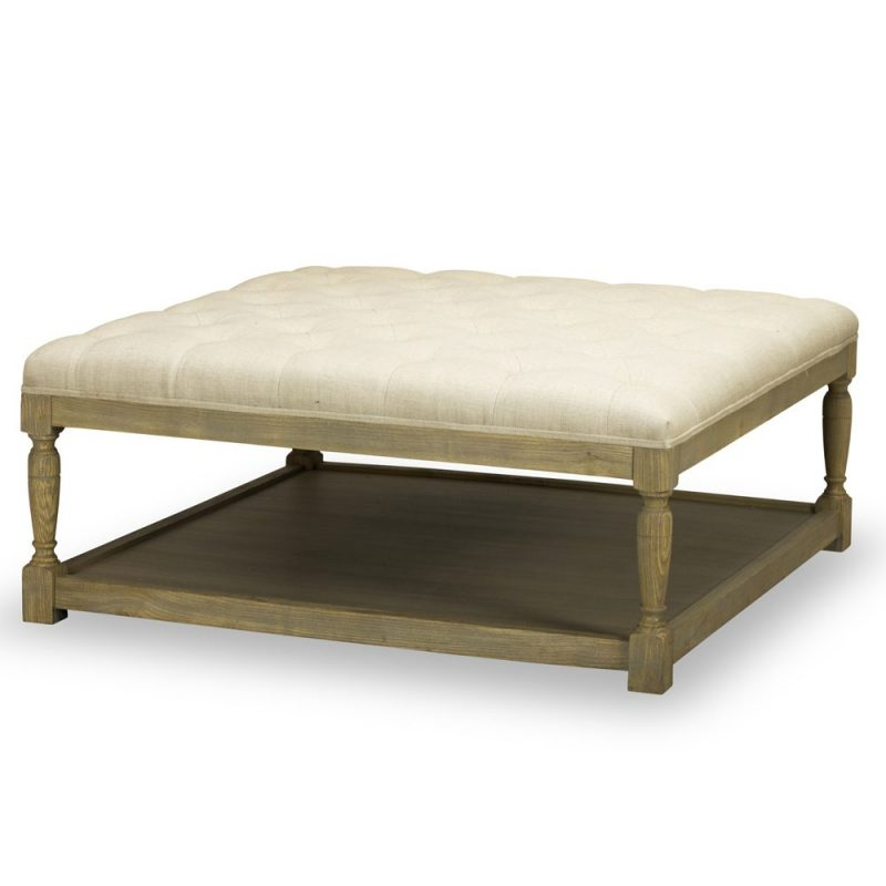 Lucerne Cocktail Ottoman – Tribecca Natural