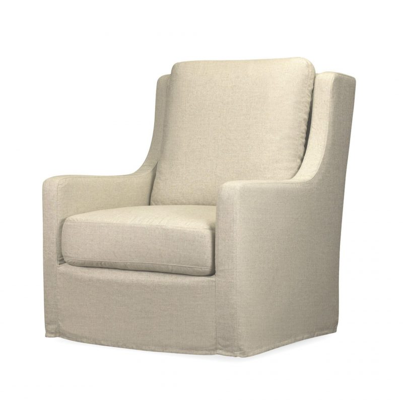 Myles Slipcover Swivel Chair  - Windfield Natural