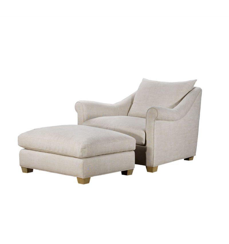 Picture of Celeste-Chair---Celeste-Ottoman---Tribecca-Natural