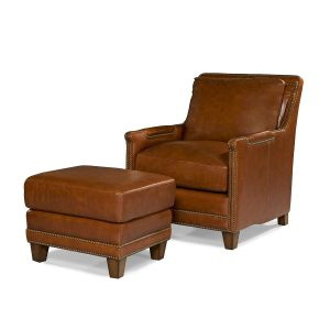 Picture of Prescott-Chair---Prescott-Ottoman---Brooklyn-Saddle