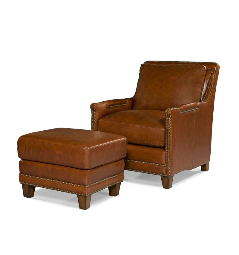 Picture of Prescott-Chair---Prescott-Ottoman---Brooklyn-Saddle