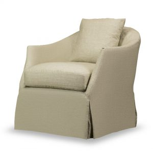 Amy Slip Cover Swivel Chair
