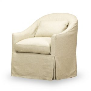 Becky Slip Cover Swivel Chair