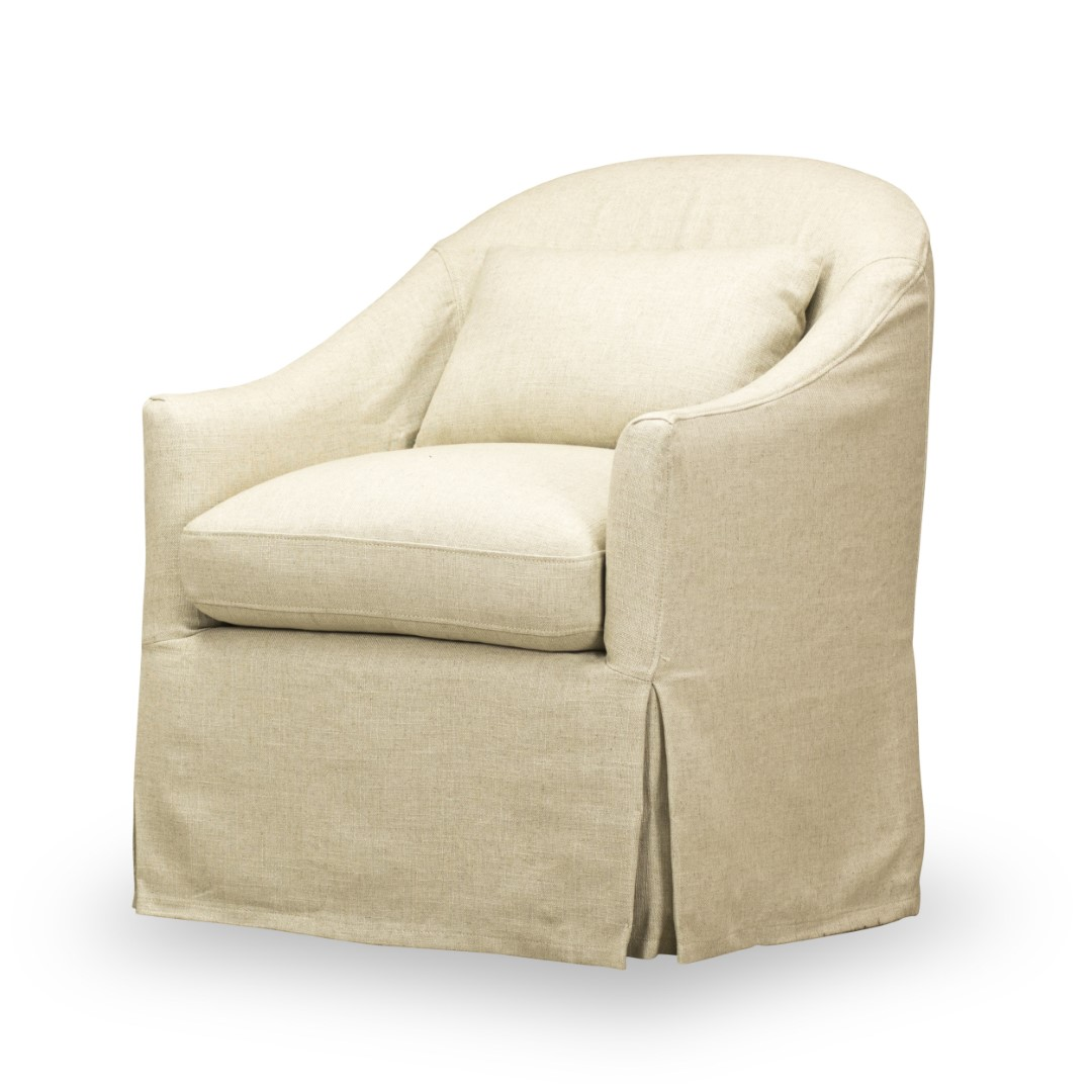 Becky Slipcover Swivel Chair Spectra Home Furniture