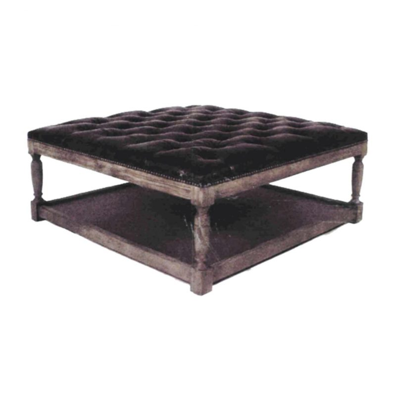 Thomas Square Ottoman - Valencia Dark Brown