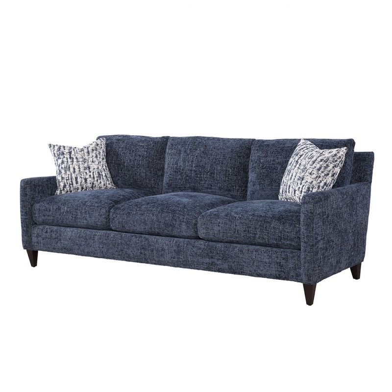 Riverside Sofa in Norse Lake with Joplin Indigo Pillows